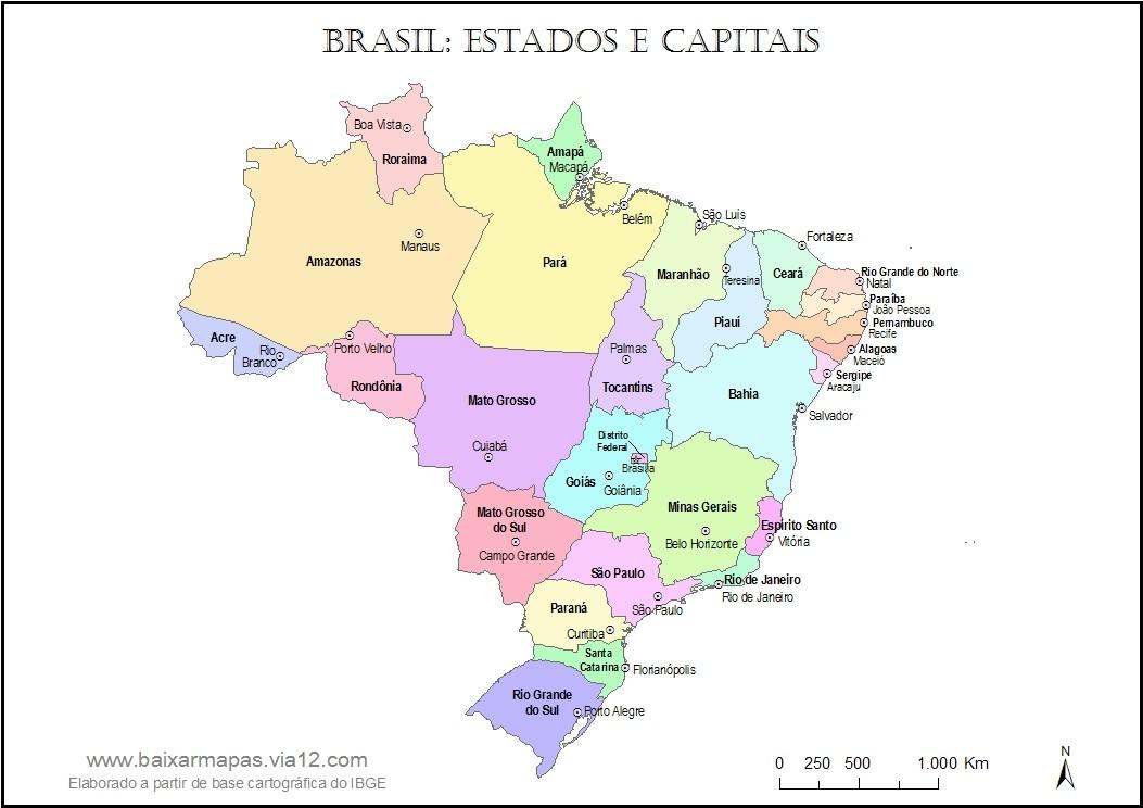 mapa do brasil com capitais cejeduinfantil / BRASIL (ESTADOS E CAPITAIS) mapa do brasil com capitais
